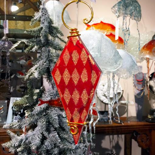 Christmas Diamond Red Gold