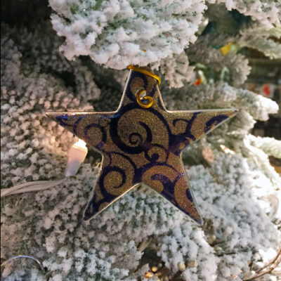 Christmas Star Purple Gold