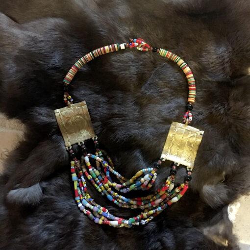 Golden Squares Necklace
